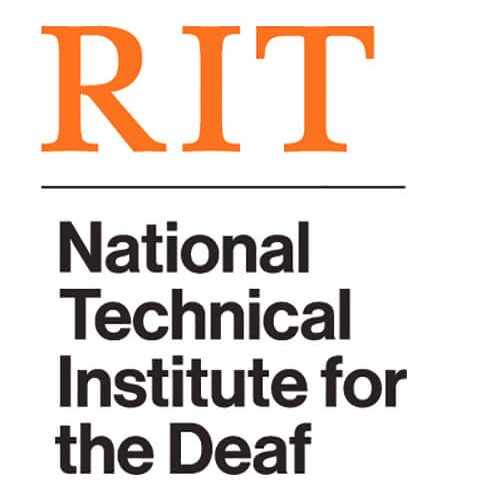RIT, National Technical Institute for the Deaf logo
