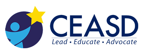 CEASD Logo with tagline, lead, educate, and advocate